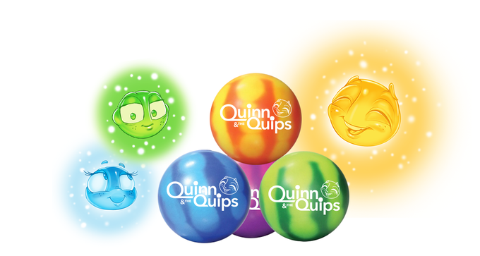 Various colors of heat sensitive, color-morphing quip stress balls (assorted)