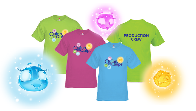 Quinn & the Quips Official Production Crew T-shirts (tagless, 100% cotton, assorted colors)