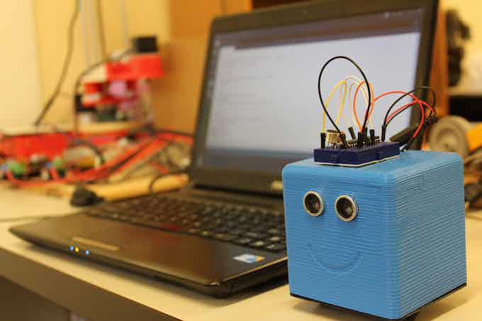 LittleBot with Extra Sound Circuit Created with a Breadboard