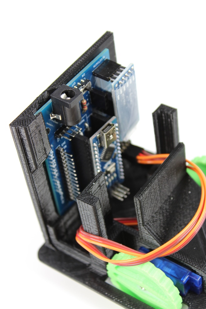 The Mainboard of the LittleBot can Support Many Sensors and Up to 8 Servos