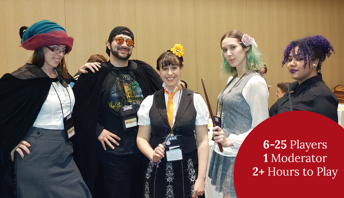 Play A Wolf by Any Other Name at parties, conventions, or your own mini-LARP!