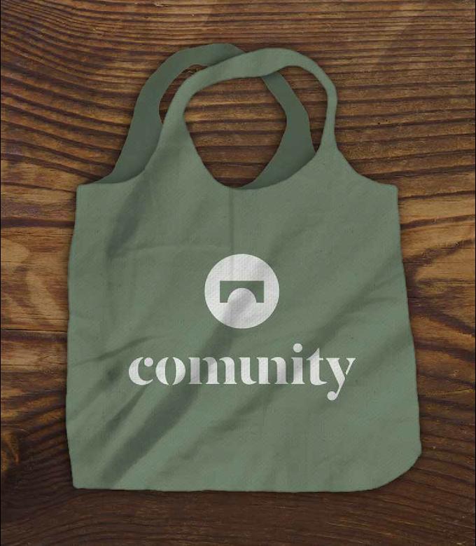 The virtual COMUNITY Market Bag in Green