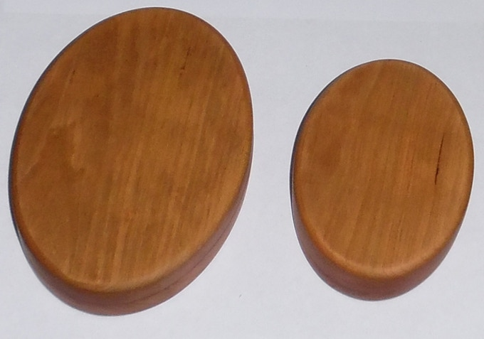Double and Single Oval Cherry (side by side)