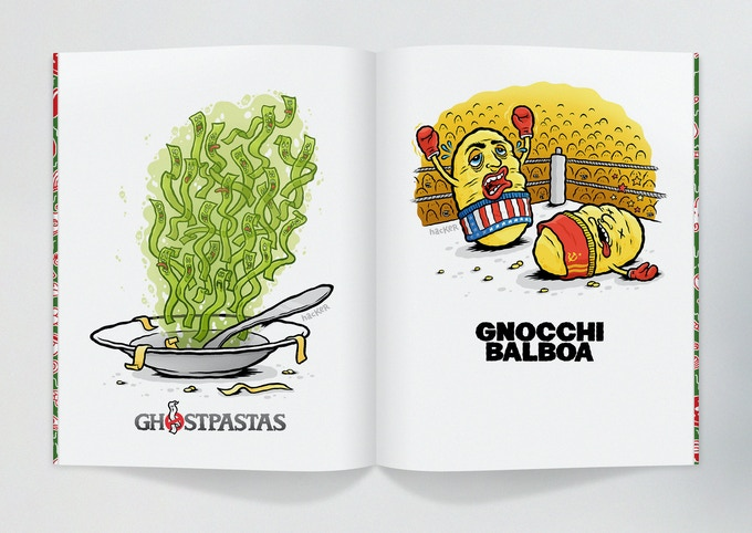 pizzeria disgusto a cartoon book about pizza pasta co by