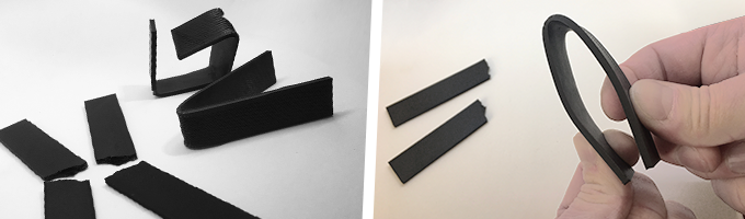MatteForge is robust and flexible compared to brittle PLA. When under strain MatteForge bends similar to ABS rather than breaks like typical PLA. See the campaign video for a demonstration.
