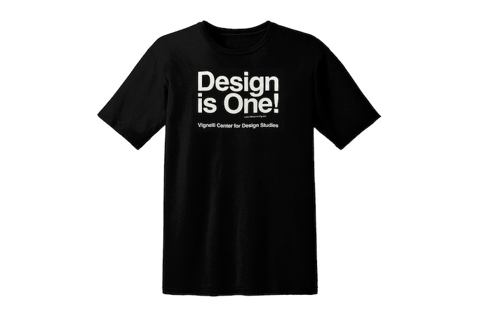 "Limited Edition Cotton T-shirt with ""Design is One"" Logo.  Size LARGE only."
