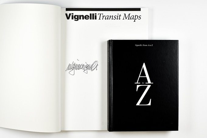 Signed Vignelli Transit Maps and Vignelli: From A to Z