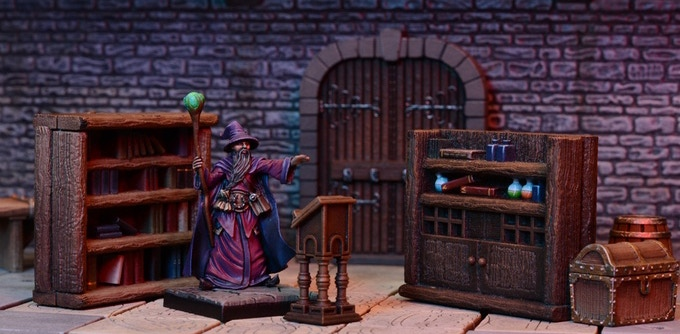 An example of our existing Dungeon Saga terrain.