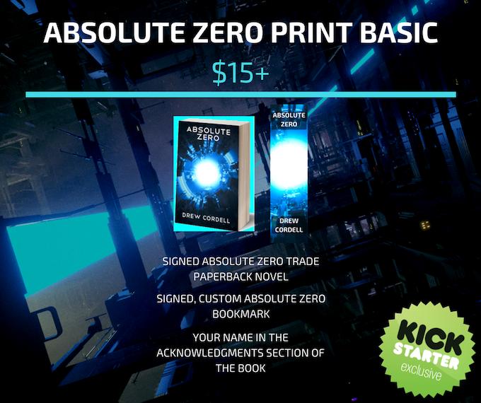 Absolute Zero Cyberpunk Science Fiction Novel By Drew Cordell