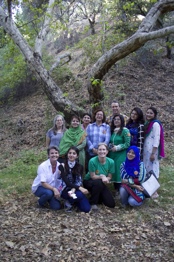 The Pakistani women, members of the conservancy and me at Cottonwood Canyon