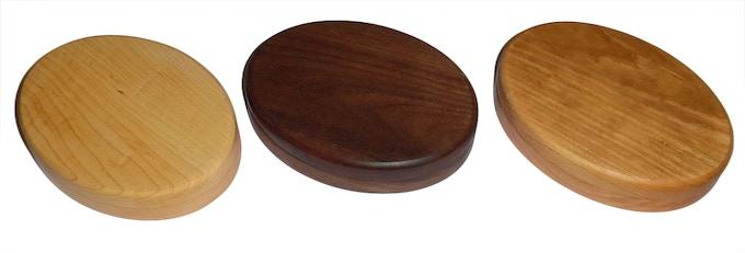 Double Ovals... Maple, Walnut & Cherry