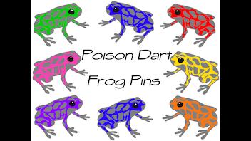 Poison Dart Frog Pins