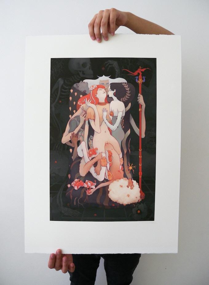 "Jesús Benítez ""This Mortal Coil"" Impresión digital, 50 x 70 cm"