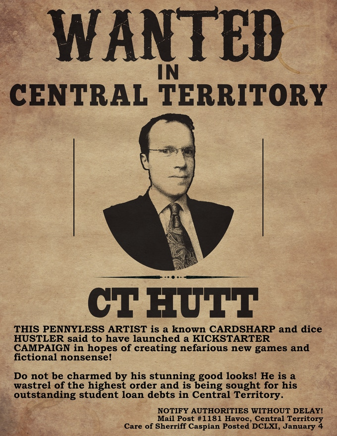 Sample Central Wanted Poster