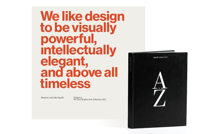 Broadside print and Vignelli: From A to Z