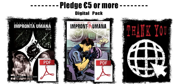 The digital pack includes both the comic books and backer's credits on our website