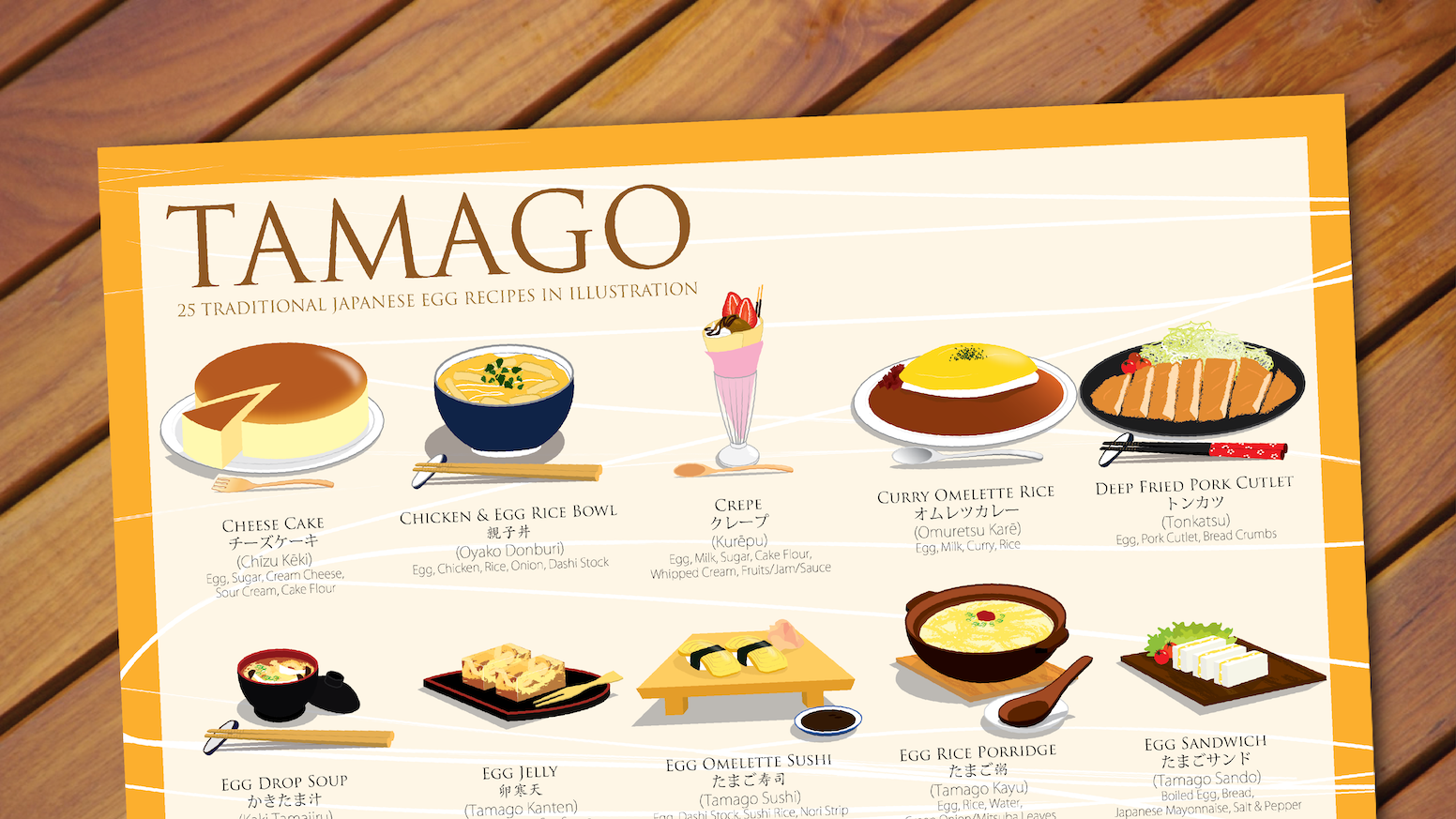 """""""Tamago"""" means egg in Japanese. This illustrated guide will inspire you with 25 authentic Japanese dishes you can make with EGGS!"""