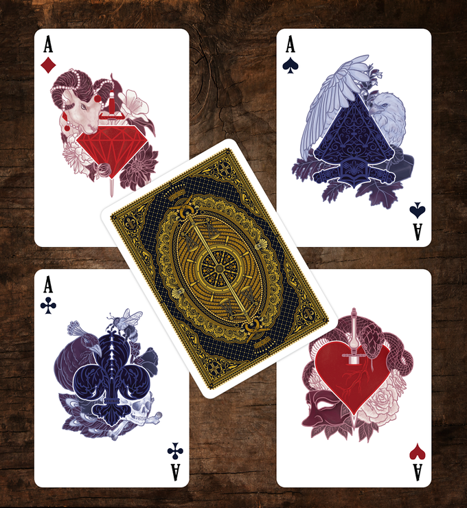 The Count of Monte Cristo Playing Cards Aces