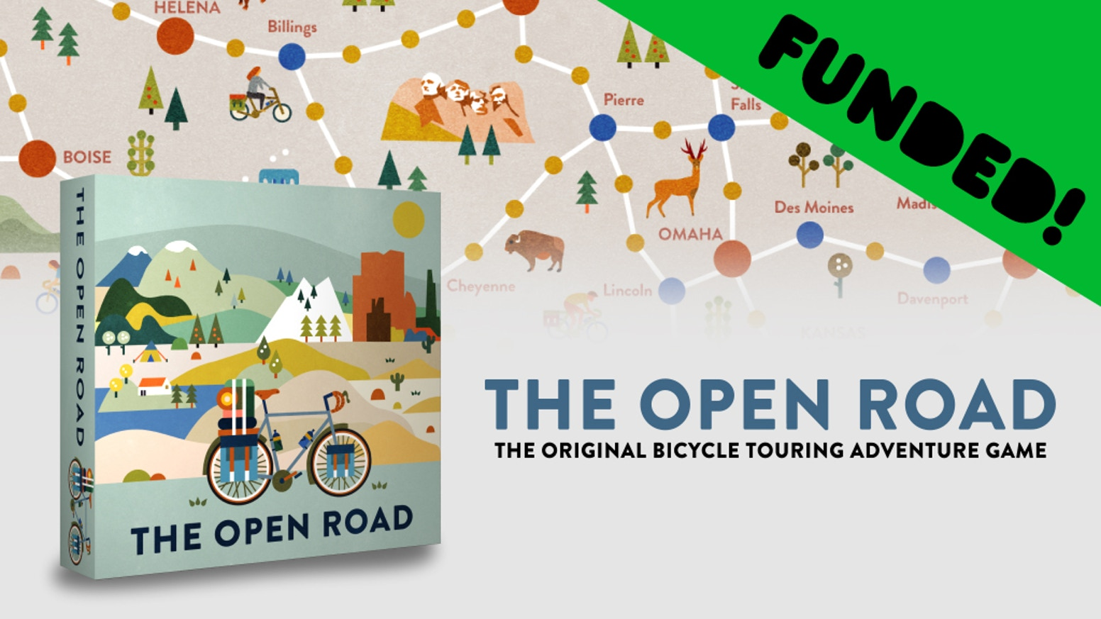 The Original Bicycle Touring Board Game. Pack your bags, hop in the saddle, and enjoy the freedom and adventure of The Open Road. You can now order at our website. Click below!