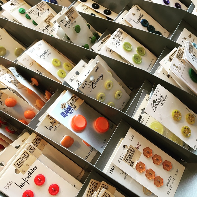 'Used' buttons are of higher design and production quality than those typically available today.