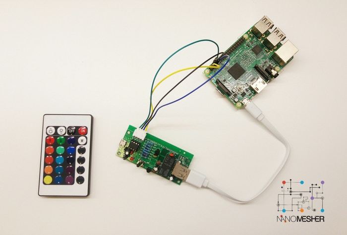 Give Raspberry Pi a consumer electronics experience - programmable Pi power switch controlled by a single button or Infrared remote