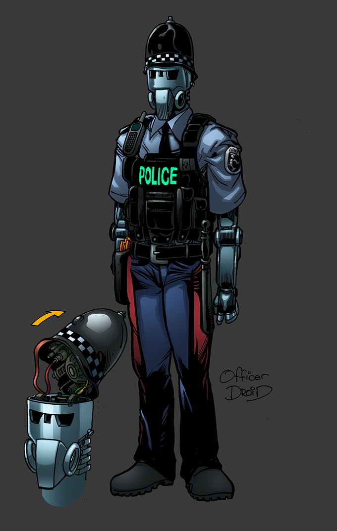 Officer Droid concept art