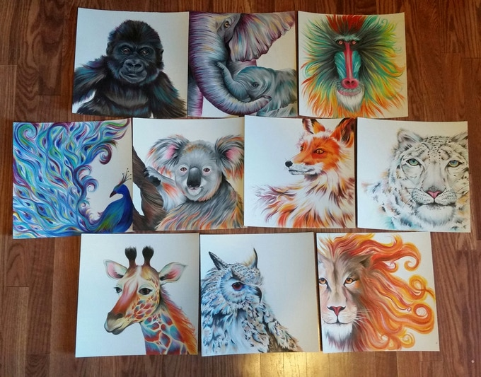 The original animal paintings that I started years ago!