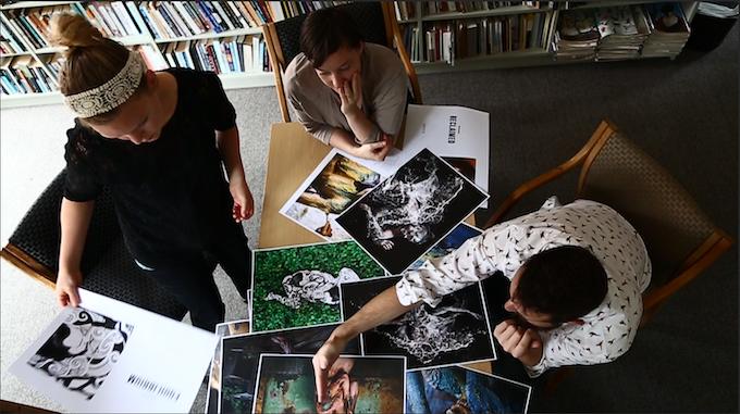 With co-writer Ben Egerton and layout artist Monique Hamon