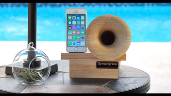 Symphonica - natural sustainable wood acoustic horn speaker