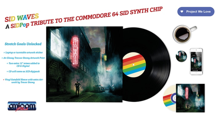This SID Waves synthpop record will be top-notch in both sound and quality. A must for all music, Commodore 64 and retro game lovers!