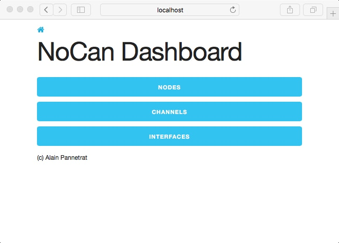 The Nocan Web dashboard