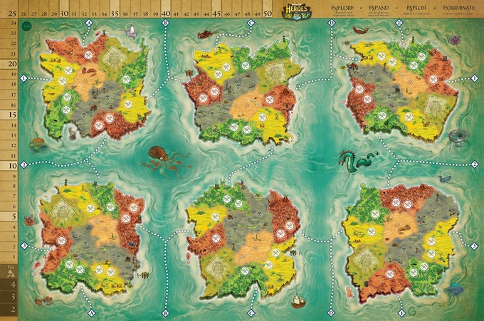 Click to see the Full Map with the Extended Board! © 2017 Gamelyn Games, all rights reserved.