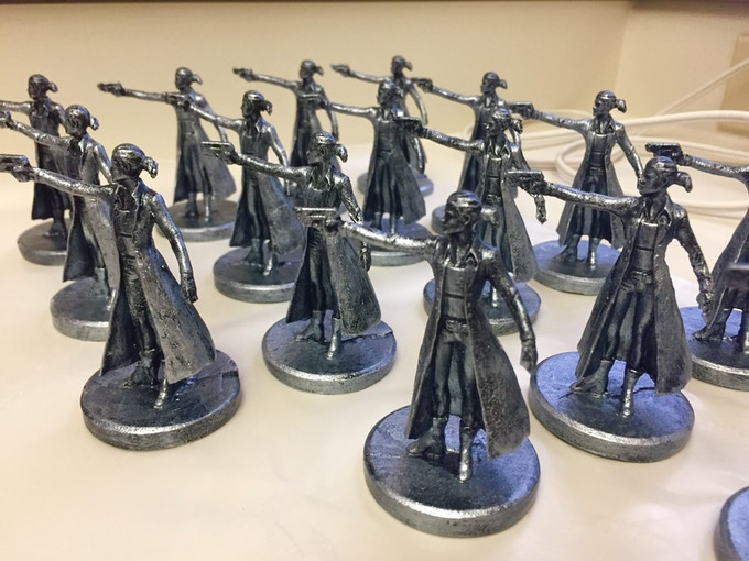 Silver Metallic Painted Bloodworth Figures, by Brenda Corey