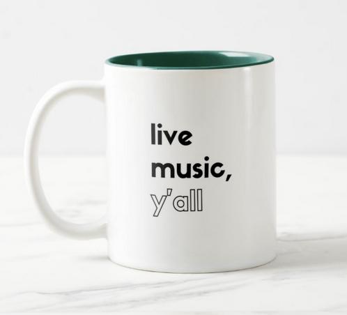 Live Music NC Mug (HK Pen & Ink) (Side A)