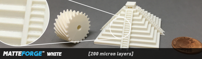 MatteForge enhances contrast between light and shadow to highlight fine details, even with white material.