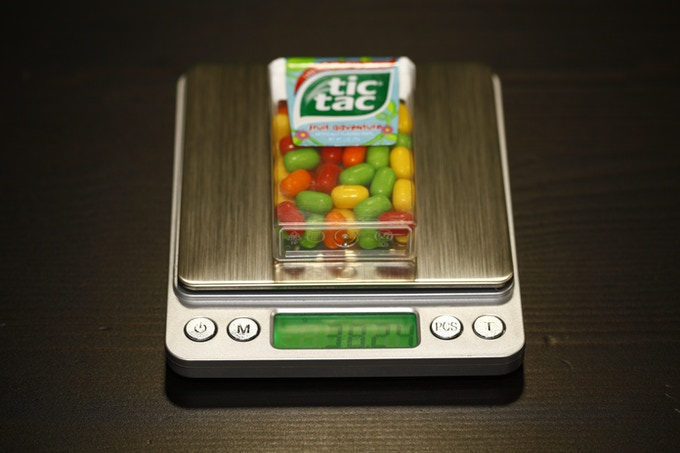 tictac on scale