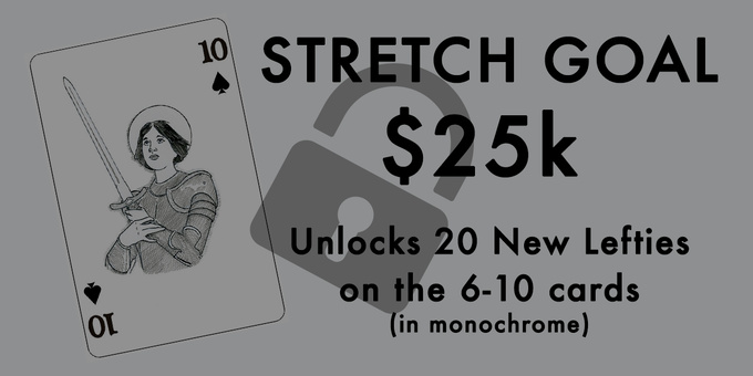 Joan of Arc prototype as one of the number cards for our stretch goal