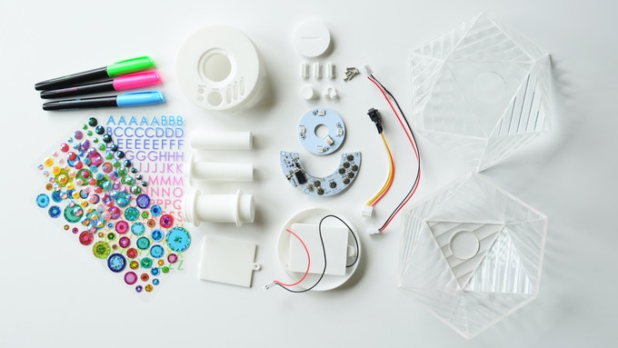 Jubilite Kit with markers and stickers (screwdriver also included)