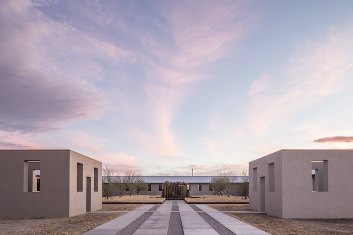 """Robert Irwin, """"untitled (dawn to dusk),"""" 2016. Photo by Alex Marks. Courtesy of the Chinati Foundation and Robert Irwin."""