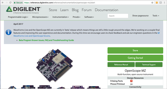 OpenScope: Instrumentation for Everyone by Digilent » Update