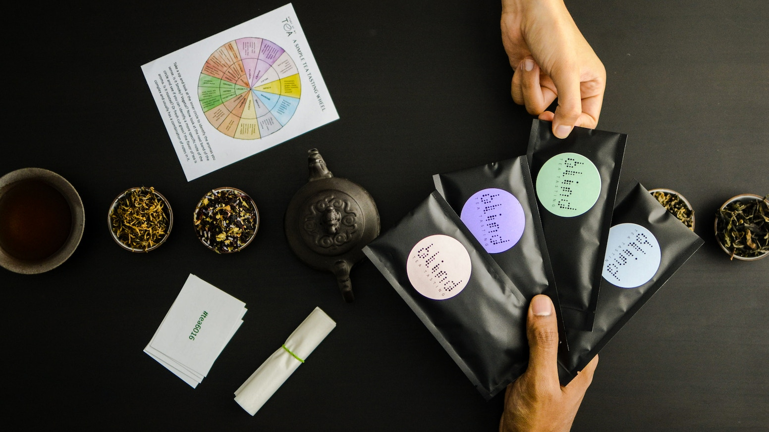 World's First Tea Tasting Game - Taste mystery tea, identify the flavors, guess the teas and origins, and improve your tasting skills.