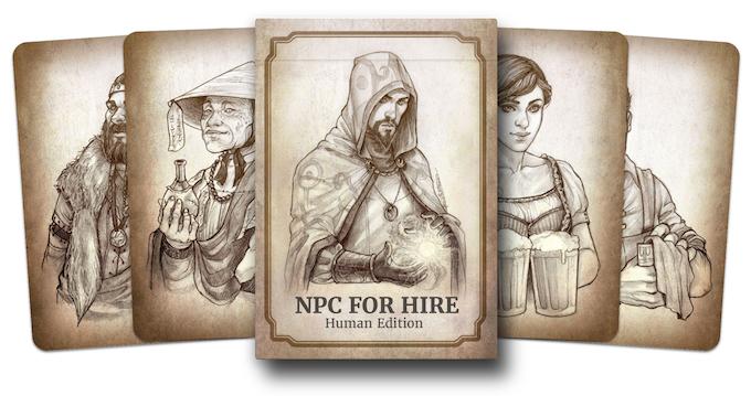 The original NPC For Hire Human Edition