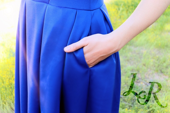 The Lucie Dress has pockets!