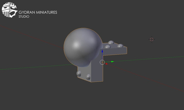 A bracket component that will be an option in the kit to add. The sphere is only 6mm diameter.