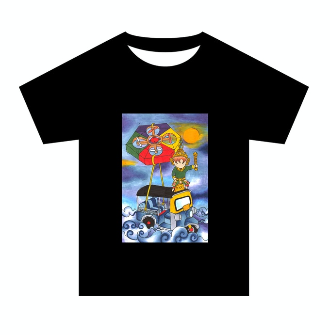 T-SHIRT WITH BEEBOT AND THAI TAXI  (TUKTUK)