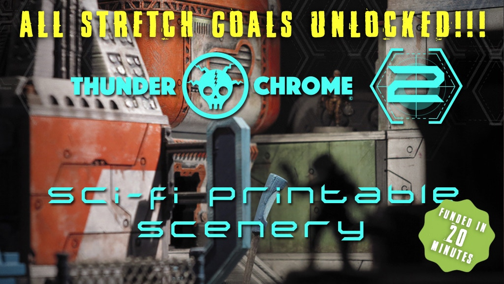 Thunder Chrome 2: 3D printable Sci-Fi scenery for wargames project video thumbnail