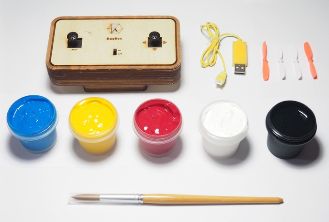 BEEBOT KIT (remote control, charger, extra propeller, paint brush, 5 basic colors)