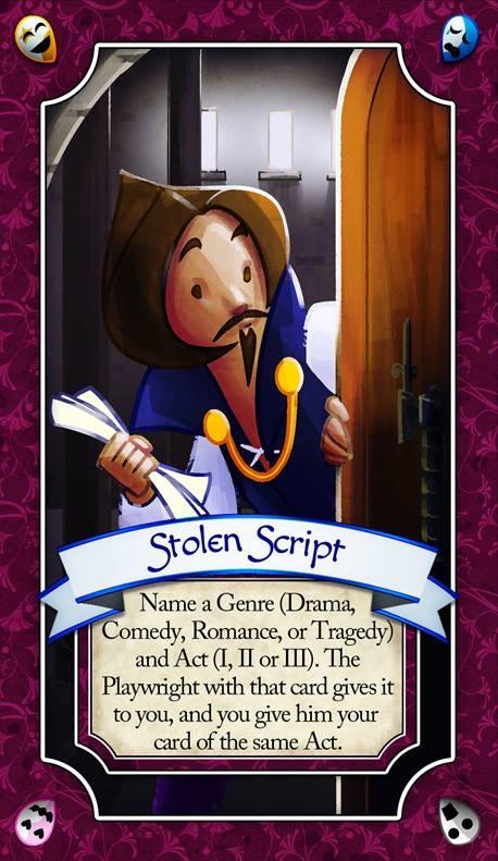"""""""Stolen Script"""" Play Card"""
