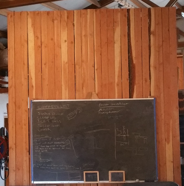look at that huge lonely space above the chalkboard