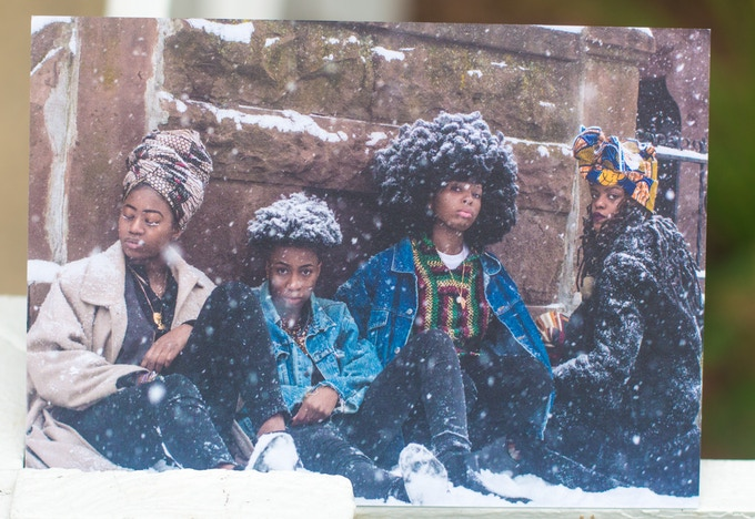 """4 Queer African Women"" Limit(less) Postcard; Signed Back"